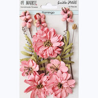 49 and Market - Flower Embellishments - Garden Petals - Flamingo