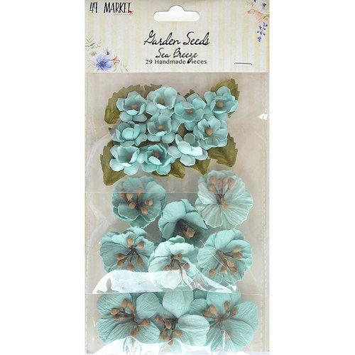 49 and Market - Handmade Flowers - Garden Seeds - Sea Breeze