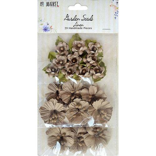 49 and Market - Handmade Flowers - Garden Seeds - Linen