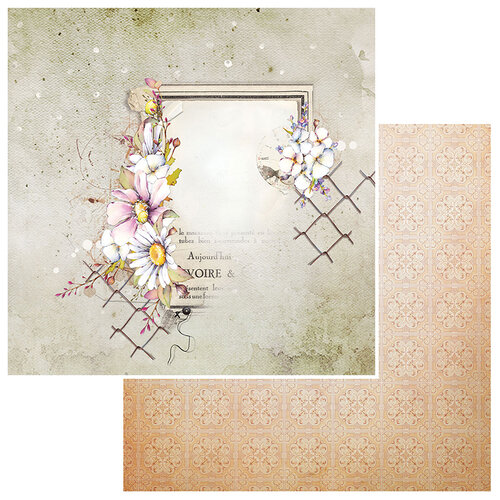 49 and Market - Irrevocable Beauty Collection - 12 x 12 Double Sided Paper - Loves Me Loves Me Not