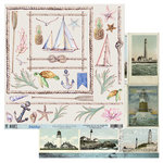 49 and Market - Island Paradise Collection - 12 x 12 Double Sided Paper - Laser Cut Shapes