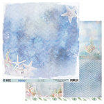 49 and Market - Island Paradise Collection - 12 x 12 Double Sided Paper - Sea Salt