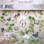 49 and Market - Layered Embellishments - Butterfly Harvest