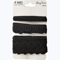 49 and Market - Lacey Trims - Black