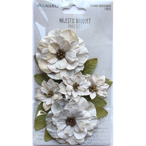49 and Market - Flower Embellishments - Majestic Bouquet - Marble