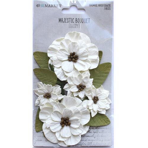 49 and Market - Flower Embellishments - Majestic Bouquet - Ivory