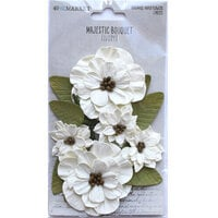 49 and Market - Flower Embellishments - Majestic Bouquet - Ivory