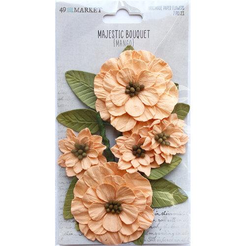 49 and Market - Flower Embellishments - Majestic Bouquet - Mango