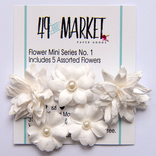 49 and Market - Flower Embellishments - Flower Mini Series 01 - Cloud