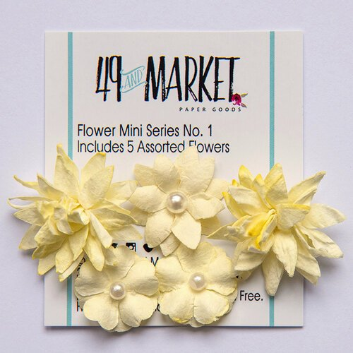 49 and Market - Flower Embellishments - Flower Mini Series 01 - Cream
