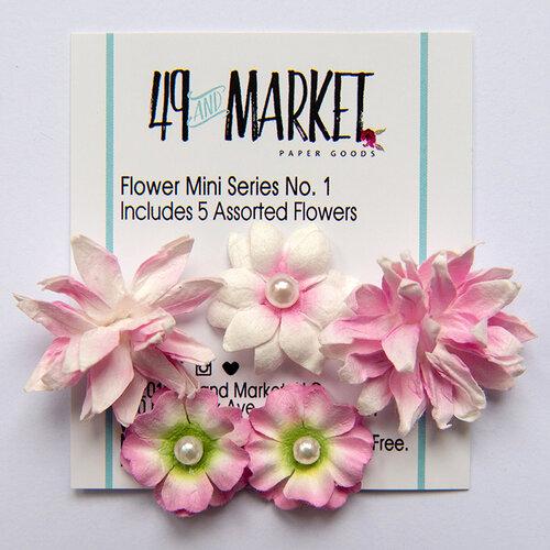 49 and Market - Flower Embellishments - Flower Mini Series 01 - Blush