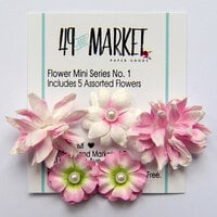 49 and Market - Flower Embellishments - Flower Mini Series 01 - Blush