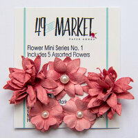 49 and Market - Flower Embellishments - Flower Mini Series 01 - Scarlet