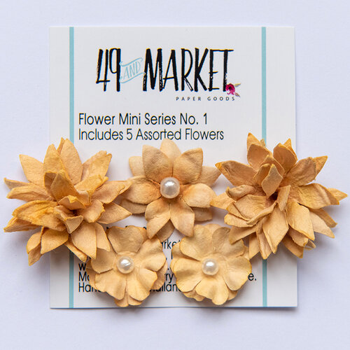 49 and Market - Flower Embellishments - Flower Mini Series 01 - Ginger