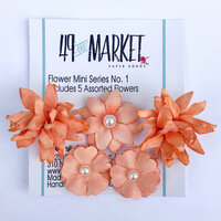 49 and Market - Flower Embellishments - Flower Mini Series 01 - Tangerine