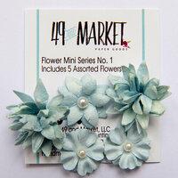 49 and Market - Flower Embellishments - Flower Mini Series 01 - Sky