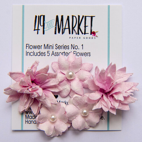 49 and Market - Flower Embellishments - Flower Mini Series 01 - Punch