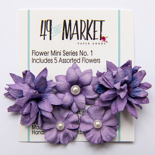 49 and Market - Flower Embellishments - Flower Mini Series 01 - Violet