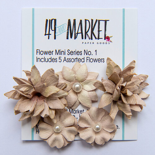49 and Market - Flower Embellishments - Flower Mini Series 01 - Mushroom