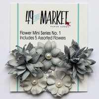 49 and Market - Flower Embellishments - Flower Mini Series 01 - Storm