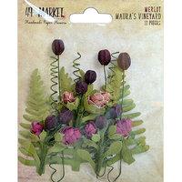 49 and Market - Flower Embellishments - Maura's Vineyard - Merlot