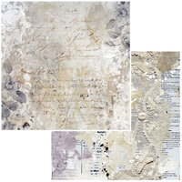 49 and Market - Remnants Mini Collection - 12 x 12 Double Sided Paper - Forgotten
