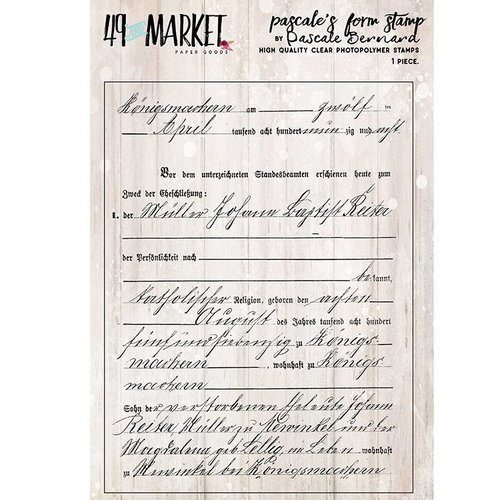 49 and Market - Clear Photopolymer Stamps - Pascale