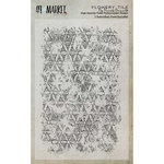 49 and Market - Clear Acrylic Stamps - Flowery Tile
