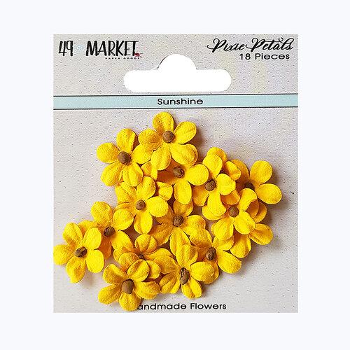 49 and Market - Flower Embellishments - Pixie Petals - Sunshine