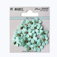 49 and Market - Flower Embellishments - Pixie Petals - Sea Glass
