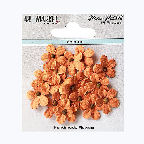 49 and Market - Flower Embellishments - Pixie Petals - Salmon
