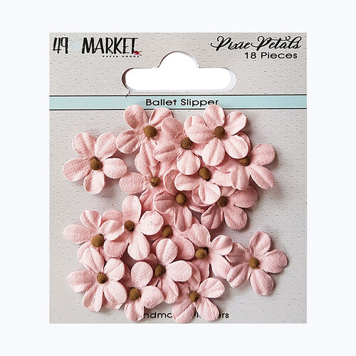 49 and Market - Flower Embellishments - Pixie Petals - Ballet Slipper
