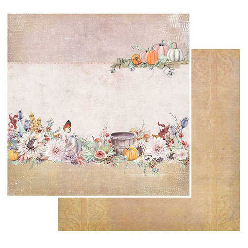 49 and Market - Rusty Autumn Collection - 12 x 12 Double Sided Paper - Orchard Feast