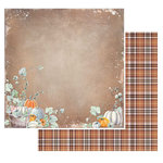 49 and Market - Rusty Autumn Collection - 12 x 12 Double Sided Paper - Pumpkin Patch