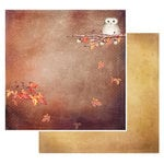 49 and Market - Rusty Autumn Collection - 12 x 12 Double Sided Paper - Falling Leaves