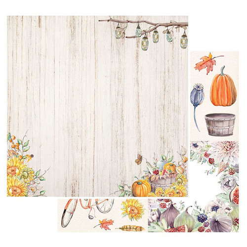 49 and Market - Rusty Autumn Collection - 12 x 12 Double Sided Paper - Sunflower Delight
