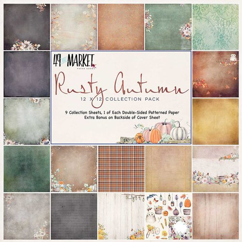 49 and Market - Rusty Autumn Collection - 12 x 12 Collection Pack