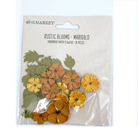 49 and Market - Flower Embellishments - Rustic Blooms - Marigold