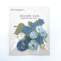 49 and Market - Flower Embellishments - Rustic Blooms - Bluejay