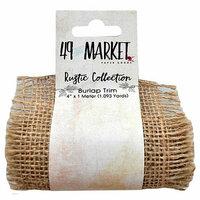 49 and Market - Burlap Ribbon - Natural Net