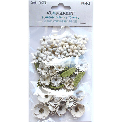 49 and Market - Flower Embellishments - Royal Posies - Marble