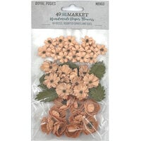49 and Market - Flower Embellishments - Royal Posies - Mango