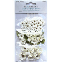 49 and Market - Flower Embellishments - Royal Posies - Ivory