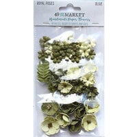 49 and Market - Flower Embellishments - Royal Posies - Olive
