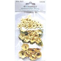 49 and Market - Flower Embellishments - Royal Posies - Sunshine
