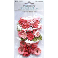 49 and Market - Flower Embellishments - Royal Posies - Passion Pink