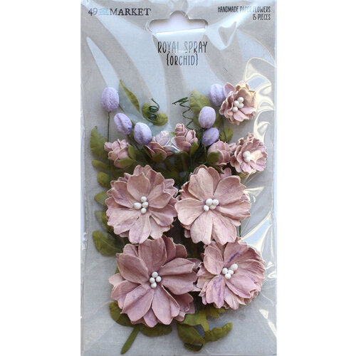 49 and Market - Flower Embellishments - Royal Spray - Orchid