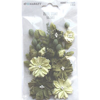 49 and Market - Flower Embellishments - Royal Spray - Olive