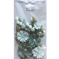 49 and Market - Flower Embellishments - Royal Spray - Ocean Jade