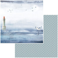 49 and Market - Seaside Collection - 12 x 12 Double Sided Paper - Whales Tales